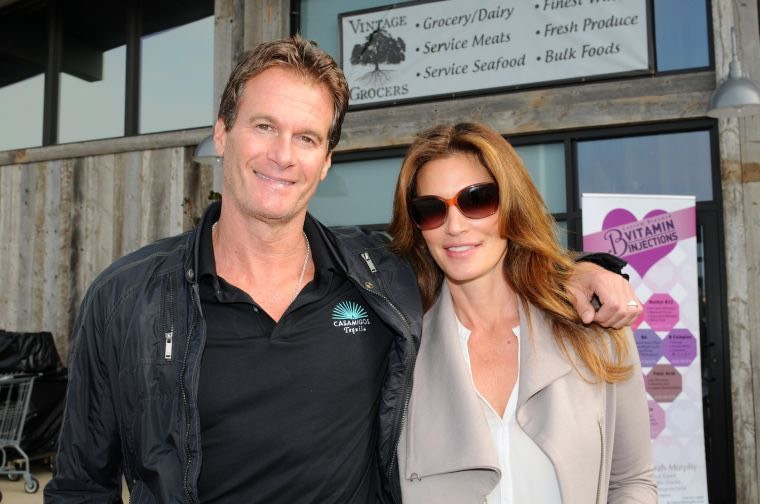 Malibu locals, Rande Gerber and Cindy Crawford, show their support on Wednesday